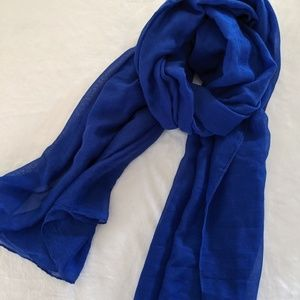 Royal blue scarf. Very soft and light.